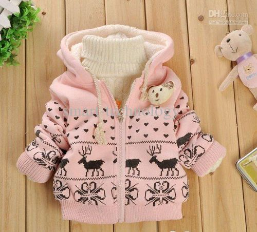 Pink reindeer fur lined Jacket